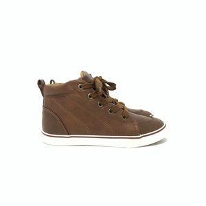 NIB Cat & Jack Florian Mid Top Sneakers Tan Boys 1